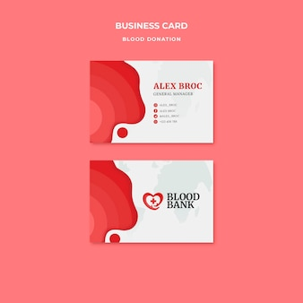 Szablon wizytówki oddania krwi