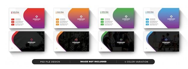 Szablon wizytówki z kształtami kolorów