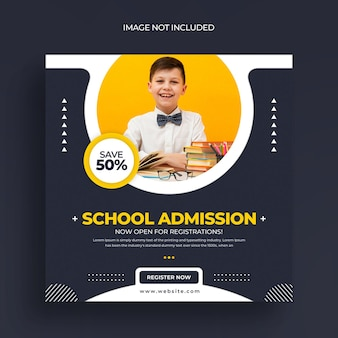 Szablon wpisu w mediach społecznościowych o przyjęciu do szkoły