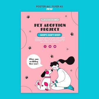 Szablon wydruku adopcji zwierząt domowych