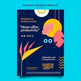 Szablon Wydruku Biura Domowego Premium Psd