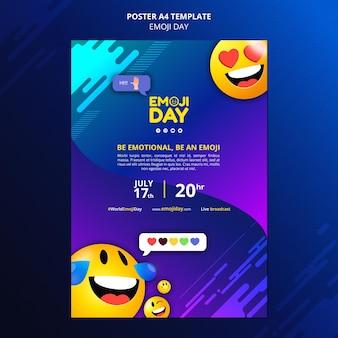 Szablon wydruku dzień emoji
