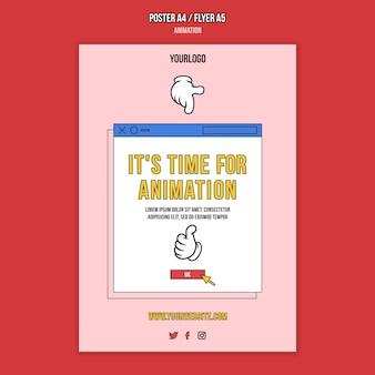 Szablon wydruku klasy online animacji