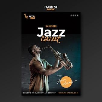 Szablon wydruku koncertu jazzowego
