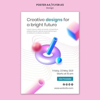 Szablon wydruku kreatywnych projektów 3d