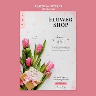Szablon wydruku kwiaciarni