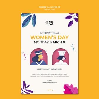 Szablon wydruku międzynarodowego dnia kobiet