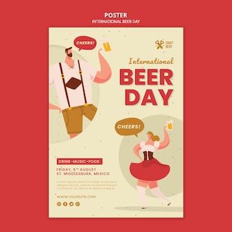 Szablon wydruku międzynarodowego dnia piwa