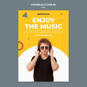 Szablon wydruku muzyki dla każdego