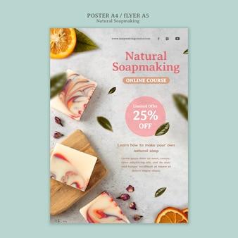 Szablon wydruku naturalnego mydła