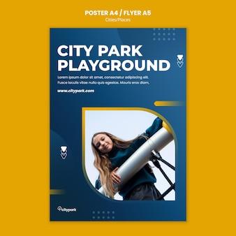 Szablon wydruku parku miejskiego