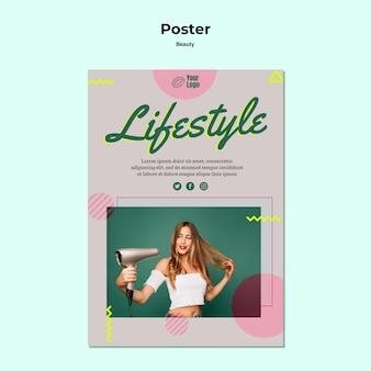 Szablon wydruku plakatu styl życia