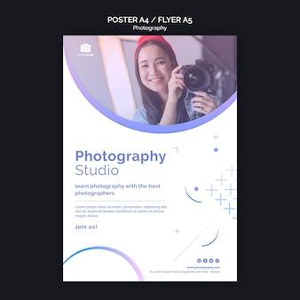 Szablon wydruku plakatu zajęć fotografii