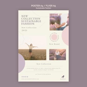 Szablon wydruku plakatu zrównoważonego mody