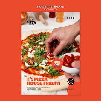 Szablon wydruku restauracji pizzy