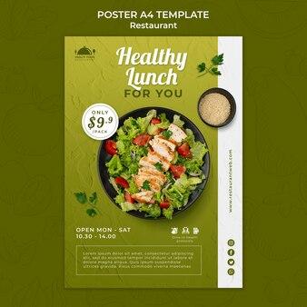 Szablon wydruku restauracji zdrowej żywności
