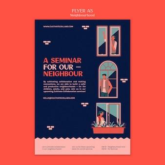 Szablon wydruku seminarium sąsiedzkiego