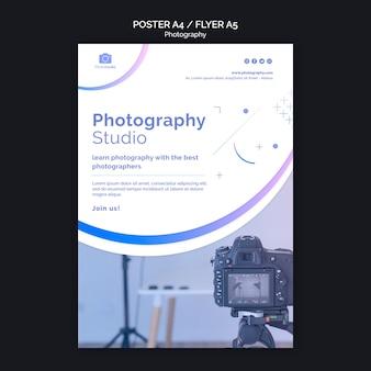 Szablon wydruku ulotki studio fotografii