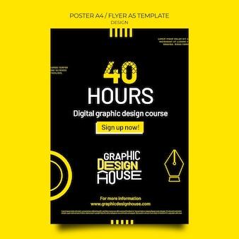 Szablon wydruku usług projektowania graficznego
