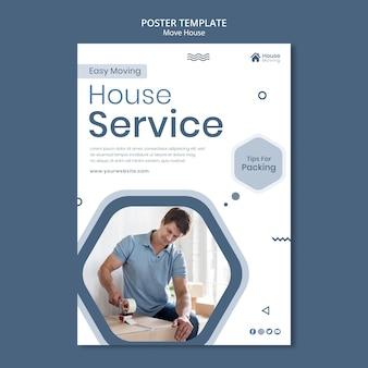 Szablon wydruku usługi przeprowadzki domu