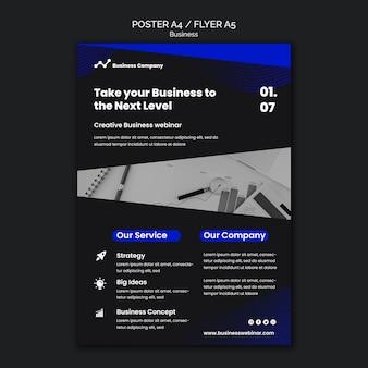 Szablon wydruku webinaru biznesowego