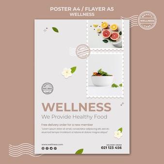 Szablon wydruku wellness ze zdjęciem