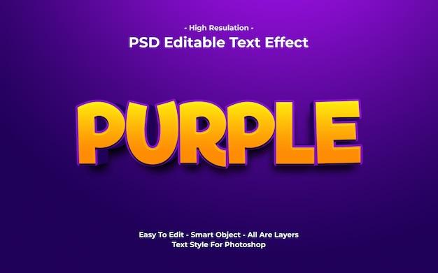 Szablon z fioletowym efektem tekstowym