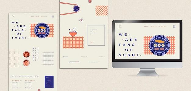 Szablon Z Restauracją Sushi Darmowe Psd