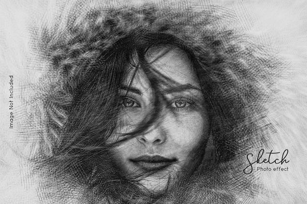 Szablon zdjęć do szkicowania ołówkiem