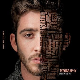 Szablon zdjęcia portretowego typografii