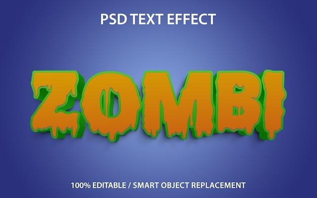 Szablon zombi z efektem tekstowym
