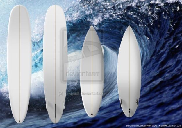 Szablony deska surfingowa