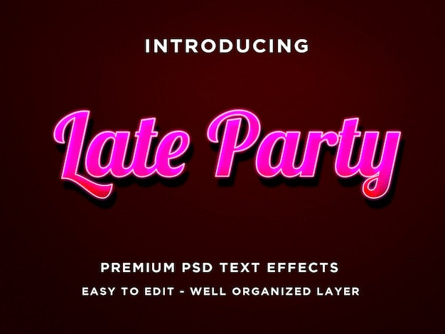 Szablony efektów tekstowych późnej imprezy