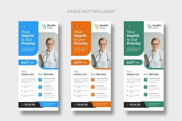 Szablony kart stojaka medycznego lub ulotki dl