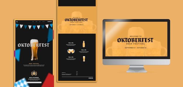 Szablony koncepcji oktoberbest w różnych formatach