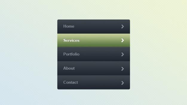 Szablony nawigacji internetowej menu