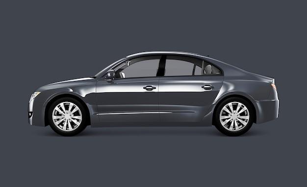 Szary samochód sedan