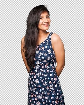 Szczęśliwa kobieta łacińskiej