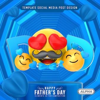 Szczęśliwy dzień ojca 3d na kompozycję