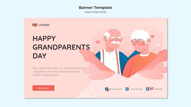 Szczęśliwy transparent dzień dziadków