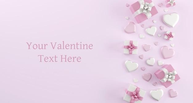 Szczęśliwych walentynek kartkę z życzeniami szablon z serca