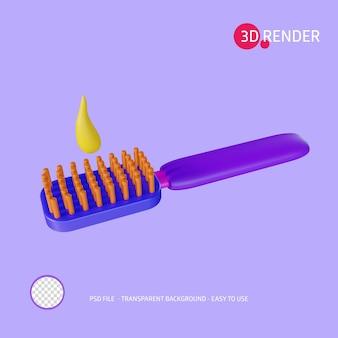 Szczoteczka do zębów z ikoną renderowania 3d