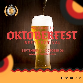 Szklanka do piwa na festiwal oktoberfest