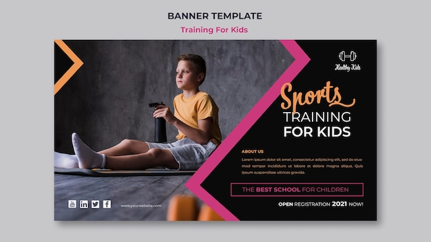 Szkolenie dla dzieci banner