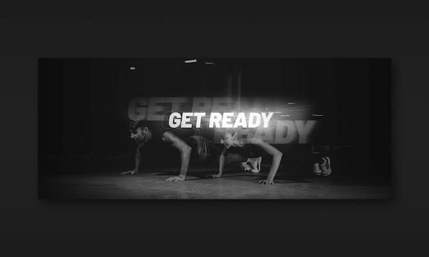 Sztandar ciemny fitness fitness