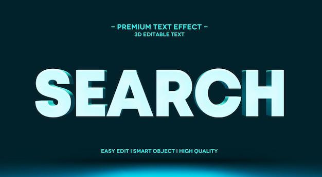 Szukaj szablon makiety efektu tekstowego 3d