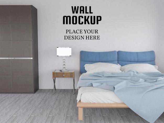 Tapeta makieta w nowoczesnej sypialni