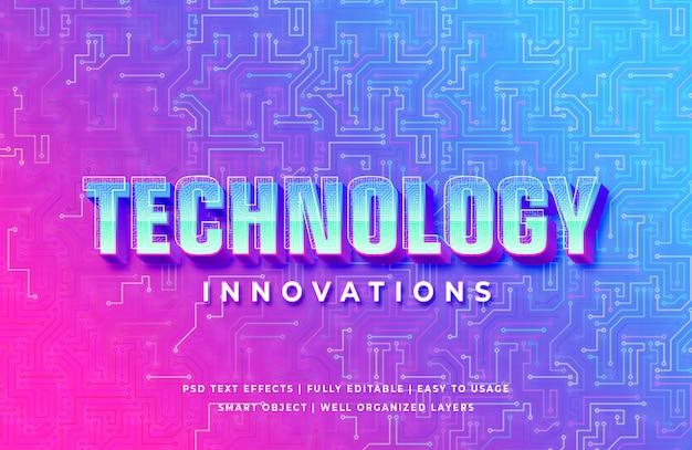 Technologia innowacji 3d efekt stylu tekstu