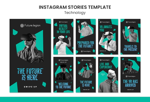 Technologia szablonów historii na instagramie