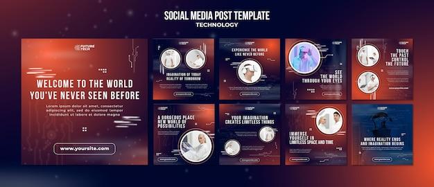 Technologiczny post w mediach społecznościowych